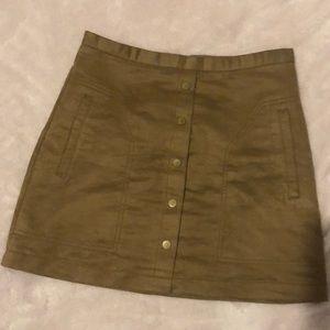 H&M brown A-line skirt